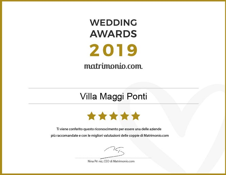 wedding awards 2019 premio villa maggi ponti