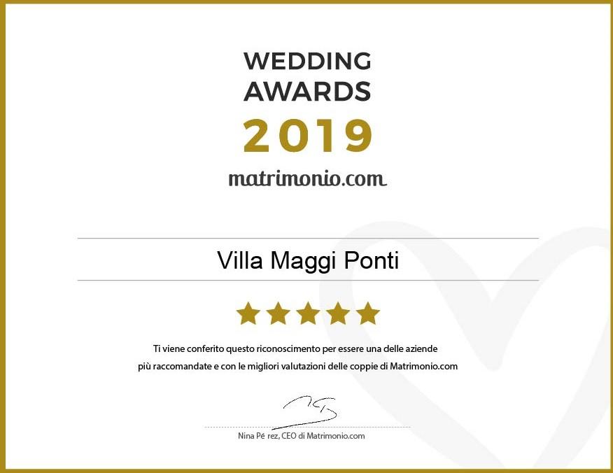 Award 2019 Villa Maggi Ponti